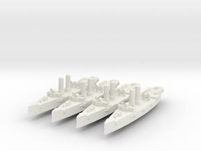 USS Montgomery (1890) 1:2400 x4 in White Natural Versatile Plastic