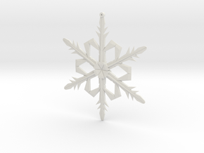 Snowflake1a in White Natural Versatile Plastic