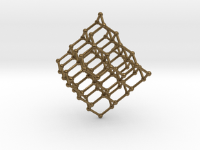 Face Centered Cubic (Diamond) Crystal Structure in Polished Bronze