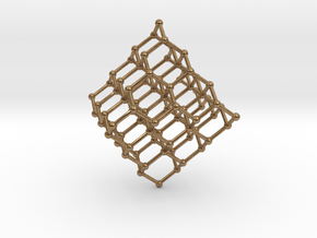Face Centered Cubic (Diamond) Crystal Structure in Natural Brass