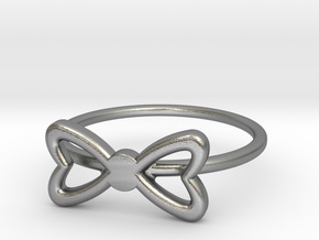 Knuckle Bow Ring, subtle and chic. in Natural Silver