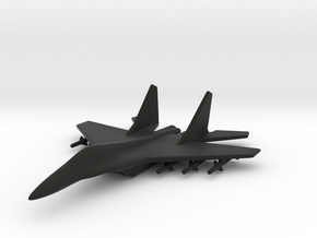 1/285 (6mm) Mig-35 Fighter in Black Strong & Flexible