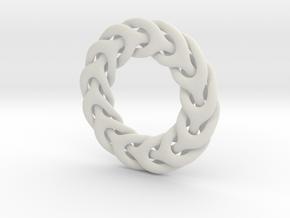Three Phase 48mm dia pendant in White Natural Versatile Plastic