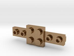 Brick Tie Clip-6 Stud Type II in Natural Brass