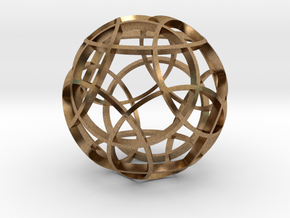Rhombicosidodecahedron (narrow) in Natural Brass