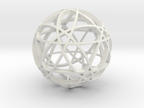 Pentagram Dodecahedron 2 (narrow) in White Strong & Flexible