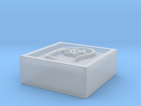 """Square token - 0.5"""" Diseased in Smooth Fine Detail Plastic"""
