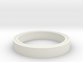Clear Ring in White Strong & Flexible