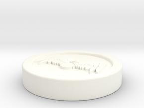 "Circle Token - 1"" Celestial in White Processed Versatile Plastic"