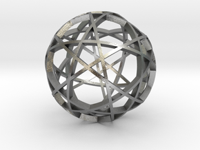 Pentagram Dodecahedron 3 (narrow) in Natural Silver