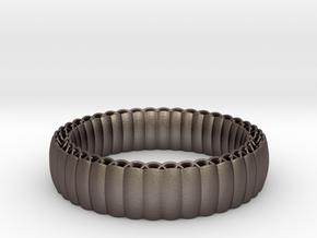 Armadillo Bracelet in Polished Bronzed Silver Steel