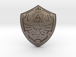 Royal Shield III in Polished Bronzed Silver Steel