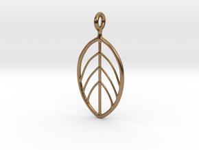 Apple Leaf Pendant in Natural Brass