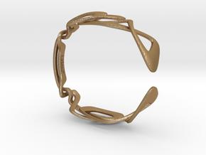 Kuleses Bracelet : The infinite Loop in Matte Gold Steel