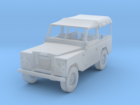 1:72 Scale Landrover in Smooth Fine Detail Plastic