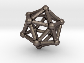 Icosahedron Magnetix in Polished Bronzed Silver Steel