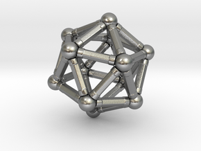Icosahedron Magnetix in Natural Silver