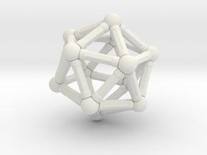 Icosahedron Magnetix in White Natural Versatile Plastic