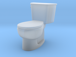 1:24 Tank Toilet (Not Full Size) in Smooth Fine Detail Plastic