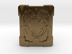 Fortified Shield in Natural Bronze