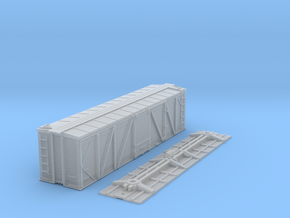 """N-Scale D&RGW """"Fowler Clone"""" Boxcar (K-Brake) in Smooth Fine Detail Plastic"""