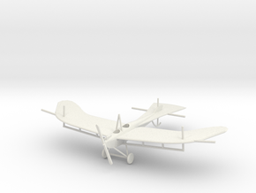 Rumpler Taube (with struts for rigging) 1:144th Sc in White Natural Versatile Plastic