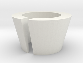 Circular Barrel Shim (Slotted) in White Natural Versatile Plastic