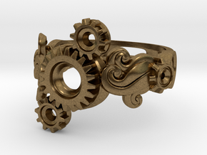 Tri-Gear Mech Ring size 10 in Natural Bronze