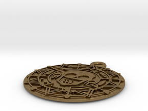 Pirate Gold Medallion in Natural Bronze