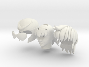 anime head in White Natural Versatile Plastic