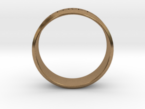Ring Let Love Last Simple (size 6) in Natural Brass