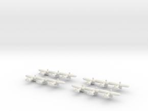 PZL P.24 (Triplet) 1/900 x4 in White Natural Versatile Plastic