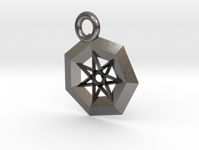 Steel Star Pendant in Polished Nickel Steel