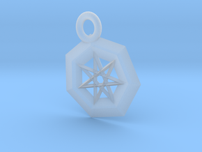Frosted  Ultra Detail Star Pendant in Smooth Fine Detail Plastic