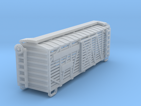 Cattle Car 40ft in Smooth Fine Detail Plastic