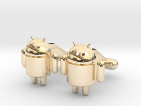Android Cufflinks in 14K Yellow Gold