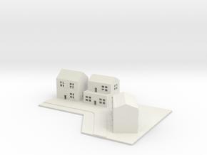 1/700 Town House Scene in White Natural Versatile Plastic