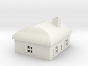 1/700 Villiage House 3 in White Strong & Flexible