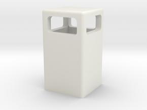 Mülleimer / dustbin (1/87) in White Natural Versatile Plastic