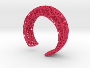 VoronoiBracelet v019 Small/Smart/Symmetrical in Pink Processed Versatile Plastic