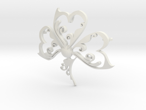 shamrock 2 in White Natural Versatile Plastic