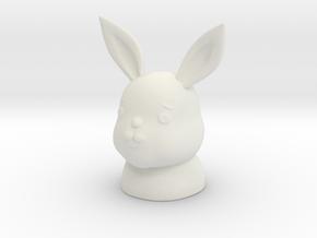 ennui animals - Rabbit in White Natural Versatile Plastic