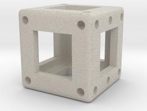 DICE - D6 - 1 cm in Sandstone