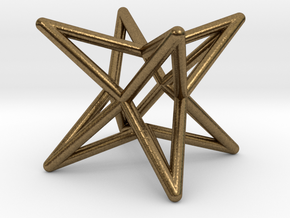 Octahedron Star Earring in Natural Bronze
