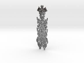 WhiteHawk Tribal Pendant in Polished Silver