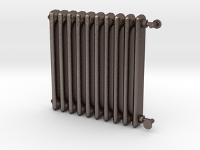 1:24 Scale- Radiator in Polished Bronzed Silver Steel