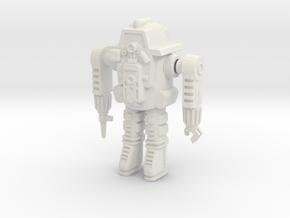 GV10 Powered Armor (28mm) in White Natural Versatile Plastic