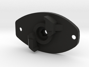 FE sef A3 grip motor plate (for m3 set screw and h in Black Natural Versatile Plastic