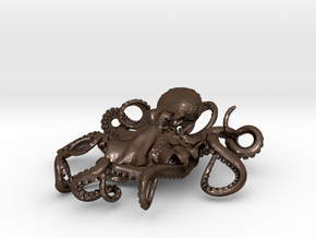 OCTOPUS Pendant in Polished Bronze Steel