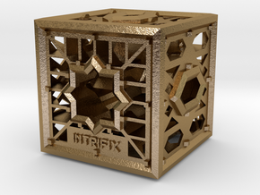 Cube of Visions in Polished Gold Steel